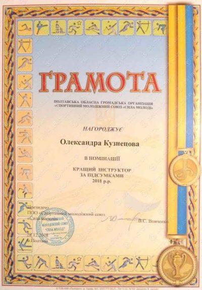 Грамота Александра Кузнецова